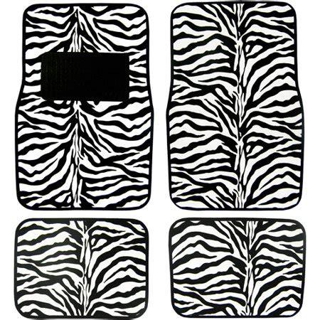 floor mats zebra plasticolor zebra skins floor mat set 4pc walmart