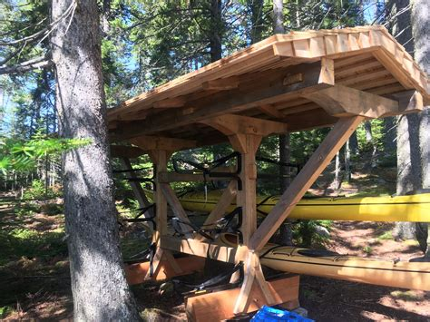 timber frame kayak shelter