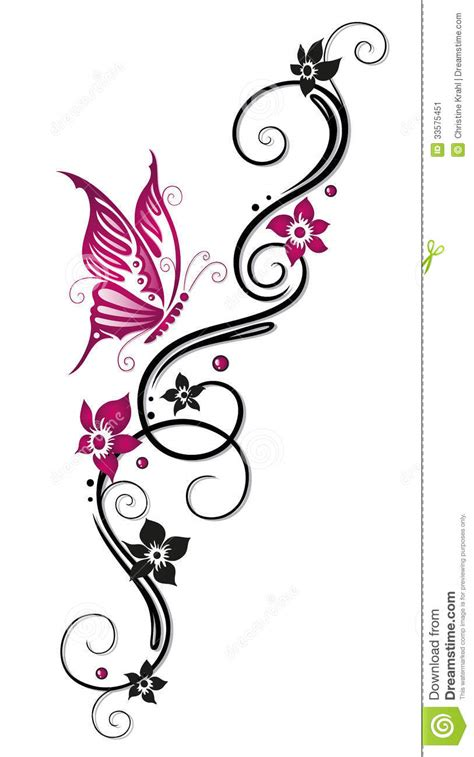 flowers tendril stock vector illustration  flora