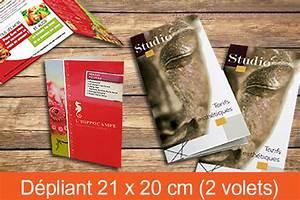 Dépliant 2 Volets : impression d pliant plaquette publicitaire 2 ou 3 plis ~ Melissatoandfro.com Idées de Décoration