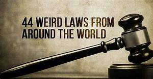 44 Weird Laws From Around The World | I Heart Intelligence