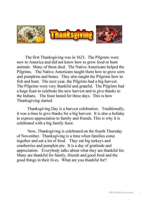 thanksgiving text  quiz running dictation worksheet