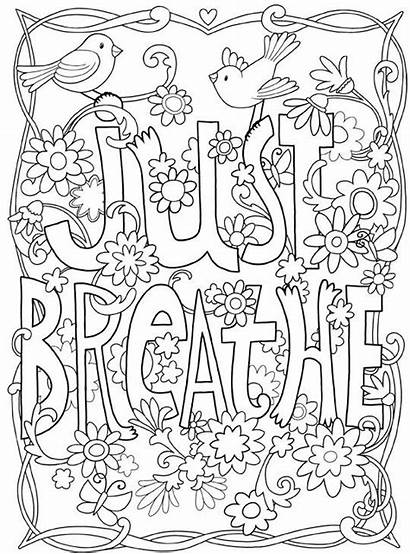 Coloring Inspirational Pages Printable Motivational Adult Quotes