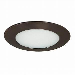 Nora lighting bronze shower recessed light trim fits