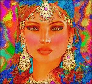 Peinture Visage Femme : peinture visage indien st02 jornalagora ~ Melissatoandfro.com Idées de Décoration