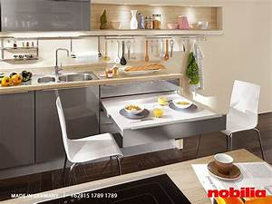 Nobilia Kitchen The Presto Pull Out Table With 90 Cm