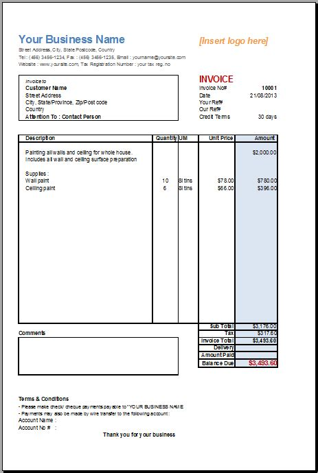 open office invoice template basic service invoice template for openoffice invoice template gallery