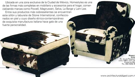 cowhide chair and ottoman hecho en cuero
