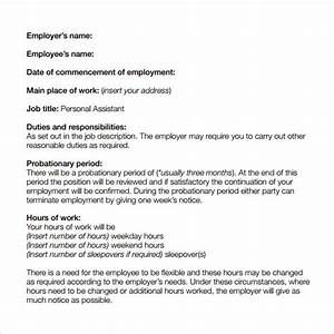 sample basic contract template 13 free sample example With basic contract of employment template