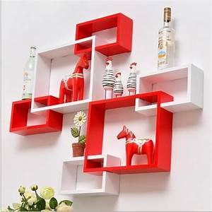 Three piece wall hanging shelf creative lattice trellis