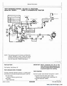John Deere 111 Wiring Diagram Throughout John Deere 40