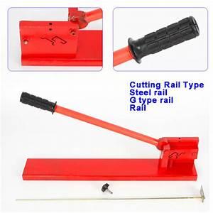 Alu  Steel  G Type Rail Manual Guide Din Rail Cutter Double