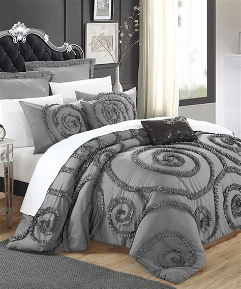 shabby chic bedding in grey best 25 ruffled comforter ideas on pinterest ruffle