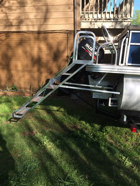 Boat Ladders For Sale by Pontoon Boat Ladders For Rear Mounting Aqua Stairs