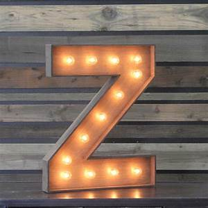 """Edison Marquee Letter - """"Z"""" Town & Country Event Rentals"""