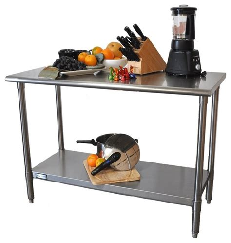 kitchen island prep table ecostorage nsf stainless steel prep table 5139