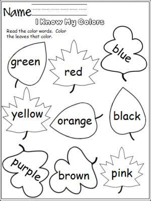 colors leaves  images preschool colors