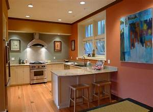 peinture cuisine 40 idees de choix de couleurs modernes With meuble de cuisine en bois rouge 2 idee couleur cuisine la cuisine rouge et grise