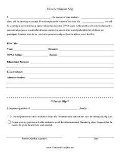 pg  permission slip freebie classroom management