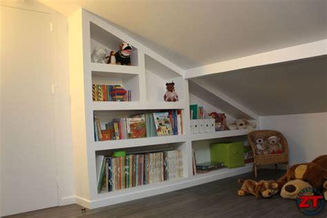 bureau bibliothèque intégré brico réaliser une bibliothèque en placo sur mesure