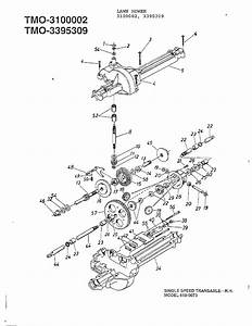 Single Speed Transaxle Right Hand Diagram  U0026 Parts List For