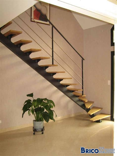 plan pour escalier avec limon central