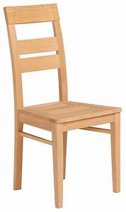 chaise de salle a manger en bois massif coloris chene With salle À manger contemporaineavec chaises bois massif salle manger