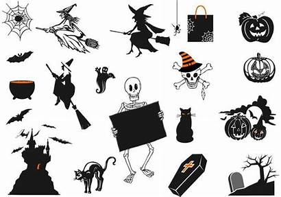 Halloween Spooky Vector Brushes Pack Scary Spider