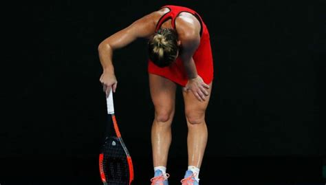 Halep admitted to hospital after Australian Open defeat | Daily Mail Online