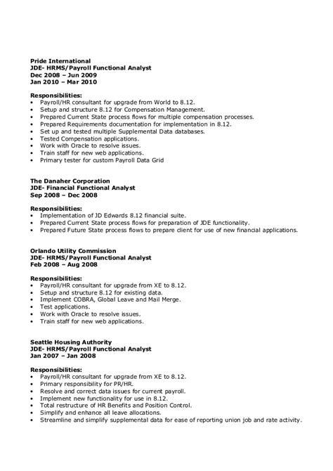 Oracle Hrms Consultant Resume by Resume 5