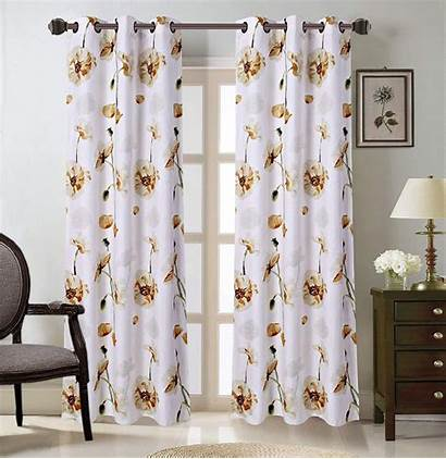 Grommet Curtain Floral Curtains Lined Living Panels