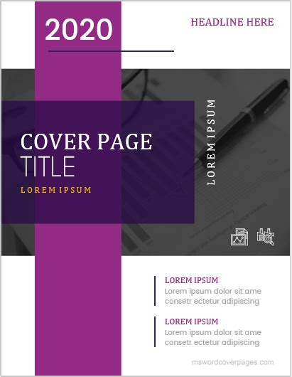 professional cover page templates  ms word ms
