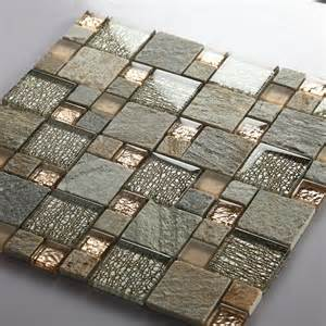 Penny Round Mosaic Tile by Grey Glass Mosaic Tile Natural Stone Tiles Marble Tile