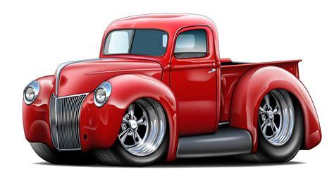1940 Ford Truck Wall Decal Vintage Classic Cartoon Car