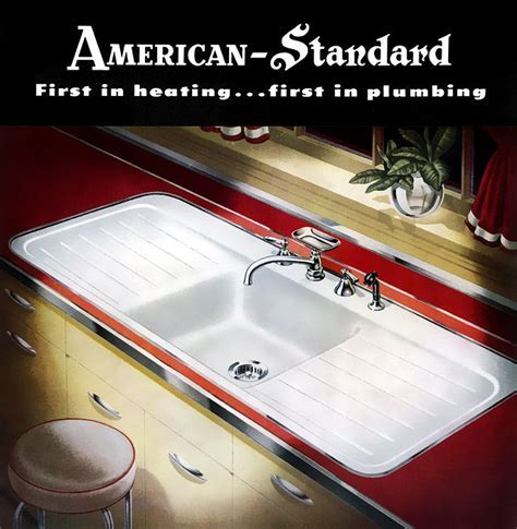 1949 American Standard sink with hudee ring. The toilet in