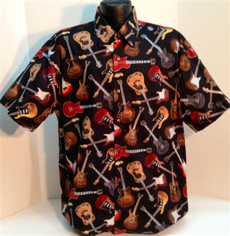 guitar shirt guitar hawaiian shirt