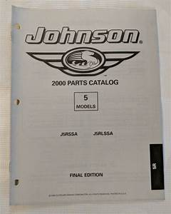 2000 Johnson 5 Hp Outboard Parts Manual    J5rssa    J5rlssa