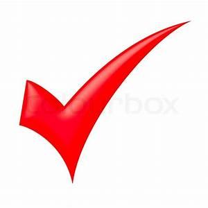Red check mark | Stock Photo | Colourbox