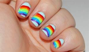 How To Paint Rainbow Nails