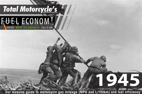 1945 Motorcycle Model Fuel Economy Guide In Mpg And L/100km