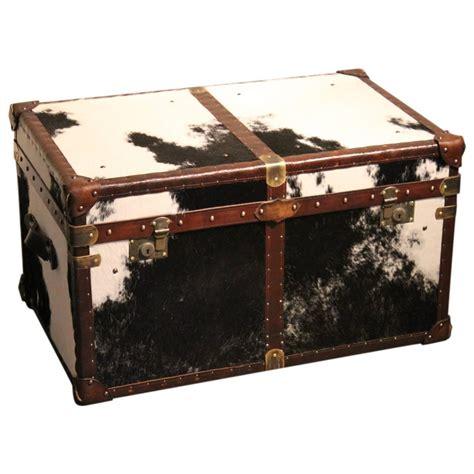 bespoke cowhide trunk coffee table at 1stdibs