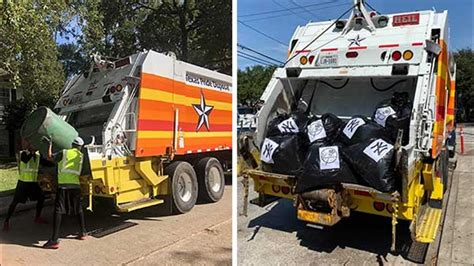 astros trash truck ready  clean  houston beat