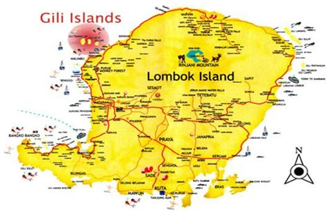 gili islands indonesia map lombok island  gili