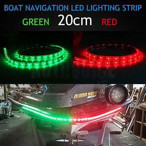 20cm Mixed Led Red Green Waterproof Navigation Light Yacht