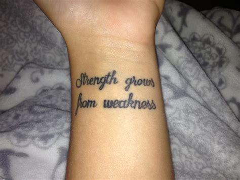 wonderful quote wrist tattoos
