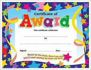 Free Certificate Template 10 Certificates For Kids Certificate Templates