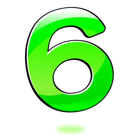 Clipart  Glossy Number Six