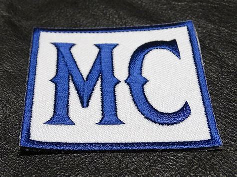 Mc Embroidered Biker Son Of Outlaw Mc Navy Color Mc Club