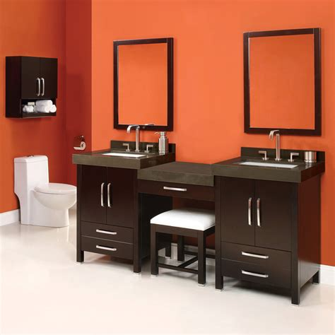 bathroom vanity with sink and makeup area double sink vanity with makeup area images