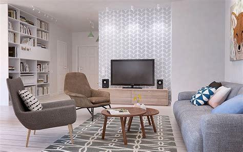 la cuisine de mamy szara sofa nowoczesna białoszara tapeta zdjęcie w